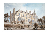 Back View of the Manor House on St Marylebone High Street, London, C1802 Giclee Print