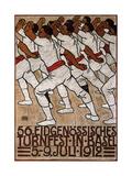 56th Federal Gymnastics Festival in Basel, 1912 Giclee Print