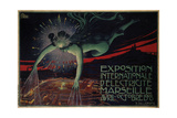 International Exposition of Electricity, Marseille, 1908 Giclee Print by David Dellepiane