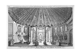 Interior View of the Music Room in Vauxhall Gardens, Lambeth, London, C1752 Giclee Print by Samuel Wale