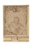 Self-Portrait, 1580S Giclée-tryk af Annibale Carracci