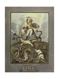1812. Allegory, 1813 Giclee Print by Ivan Philippovich Tupylev