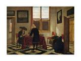 Interior Scene Giclee Print by Pieter Janssens