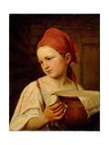 Milkgirl, 1820 Giclee Print by Alexei Gavrilovich Venetsianov