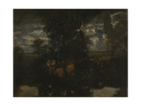 Moonlight. the Bathers, 1860S Giclee Print by Théodore Rousseau