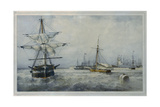 Kronstadt Giclee Print by Ferdinand Victor Perrot
