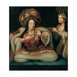 Enjoying Coffee, Early 18th C Digitálně vytištěná reprodukce