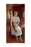 Portrait of the Violinist Cecilia Hansen (1897-198), 1922 Giclee Print by Ilya Yefimovich Repin