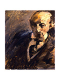 Portrait of Alfred Kuhn, 1923 Gicléetryck av Lovis Corinth