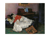 The Reading (Aline Masso) Giclee Print by Raimundo De Madrazo Y Garreta