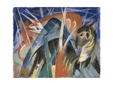 Fable Animals I (Composition with Animals), 1913 Giclee Print by Franz Marc