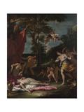 Bacchus and Ariadne, Um 1700 Giclée-tryk af Sebastiano Ricci