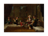 Women Embroidering, 1730s Giclee Print by Jean-Baptiste Vanmour