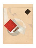 Study (For the Story of Two Quadrat), C. 1920 Impressão giclée por El Lissitzky