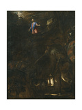 The Agony in the Garden, 1562 Giclée-tryk af  Titian (Tiziano Vecelli)