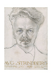 August Strindberg, 1899 Giclee Print by Carl Larsson