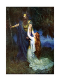 Odin and Brunhilde Giclee Print