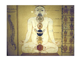 Six Chakras Representing the Plexuses of the Human Body, Tanjore, Tamil Nadu, C1850 Giclee Print