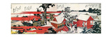 At the Shore of the Sumida River Wydruk giclee autor Katsushika Hokusai