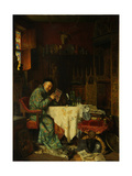 The Collector, 1880 Giclée-Druck von Eduard Von Gruetzner