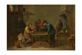 Backgammon Players, C. 1645 Giclee Print by David Teniers the Younger