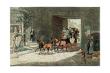 Coach Arriving in the Yard of an Inn, 1890 Giclee Print by James Pollard
