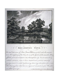 Rosamond's Pond, St James's Park, Westminster, London, 1791 Giclee Print by John Thomas Smith