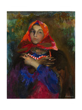 Russian Maiden in a Red Headscarf Giclee Print by Filipp Andreyevich Malyavin