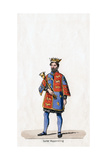 Costume Design for Shakespeare's Play, Henry VIII, 19th Century Giclee Print