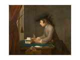 The House of Cards, 1735 Giclee Print by Jean-Baptiste Siméon Chardin