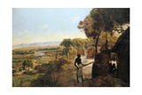 The Native Village on the River, 1900 Giclee Print