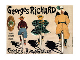 Cycles and Cars Georges Richard, 1896 Giclee Print by Fernand Fernel