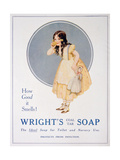 Advert for Wright's Coal Tar Soap, 1923 Giclee Print