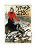 Motocycles Comiot, 1899 Giclée-tryk af Théophile Alexandre Steinlen