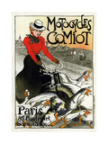 Motocycles Comiot, 1899 Giclee Print by Théophile Alexandre Steinlen