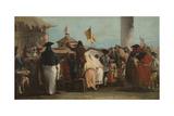 Mondo Novo, Ca 1764-1765 Giclée-tryk af Giandomenico Tiepolo