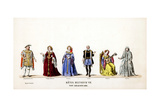 Theatre Costume Designs for Shakespeare's Play, Henry VIII, 19th Century Giclee Print