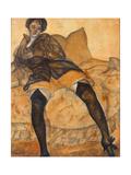 A Sitting Woman, C. 1918 Giclee Print by Boris Dmitryevich Grigoriev