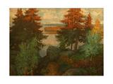 Autumn Landscape, 1920 Giclee Print by Konstantin Ivanovich Gorbatov