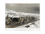 British Troops on the Road to Sevastopol, 1855 Giclee Print by William Simpson