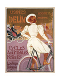 Delin Cycles Automobiles Moteurs, 1898 Giclee Print by Georges Gaudy