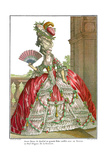 French Court Dress with Wide Panniers, 1778 Giclee Print by Claude Louis Desrais