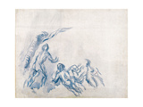 Bathers (Baigneuse), 1904-1906 Giclee Print by Paul Cézanne