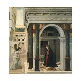 The Annunciation Giclée-tryk af Gentile Bellini