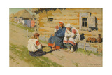 Waiting in the Sun, 1894 Giclee Print by Sergei Arsenyevich Vinogradov