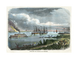 Steam-Packet and Tug-Boat on the Mississippi, USA, C1875 Giclee Print