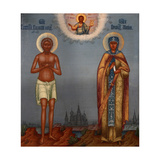 Basil the Blessed and Saint Mary of Egypt, 1901 Giclee Print by Osip Semionovich Chirikov