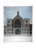 Elevation of Westminster Hall, London, 1808 Giclee Print by Charles Middleton