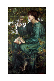 The Day Dream, 1880 Giclee-trykk av Dante Gabriel Rossetti