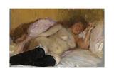 Natalia Nordman Sleeping, 1900s Giclee Print by Ilya Yefimovich Repin
